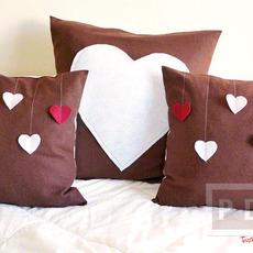 หมอนอิงทำเอง ของขวัญแฟน หัวใจหวานๆ