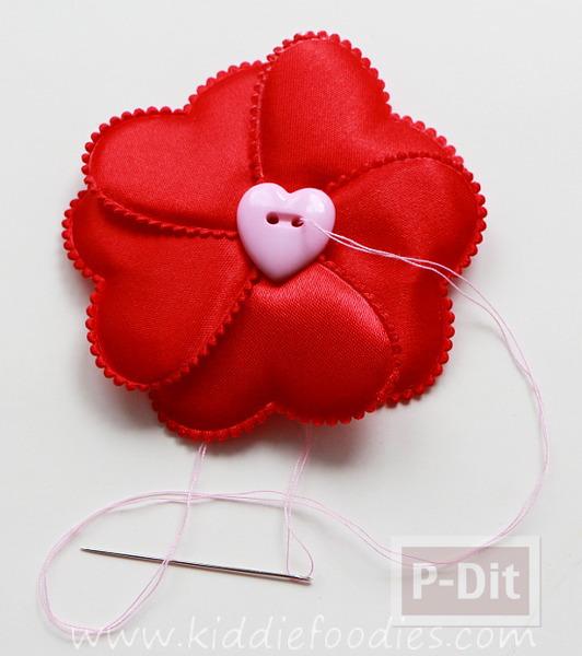 รูป 3 ทำที่คาดผม ลายหัวใจ สีแดงสดใส