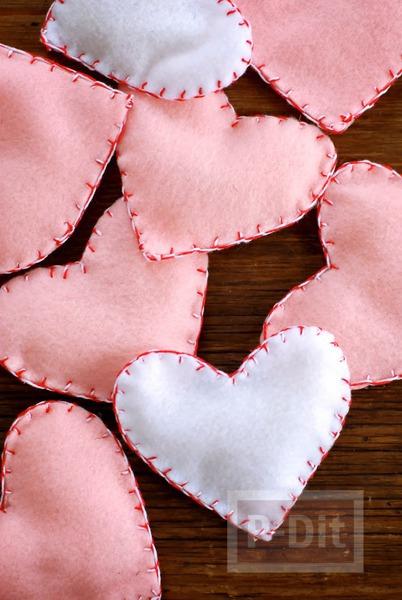 รูป 4 หัวใจผ้า เย็บเอง สวยๆ