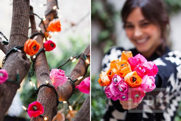 รูป 2 มงกุฎดอกไม้ ช่อดอกไม้ โมบาย สีสด