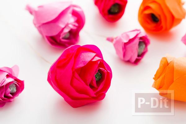 รูป 4 มงกุฎดอกไม้ ช่อดอกไม้ โมบาย สีสด