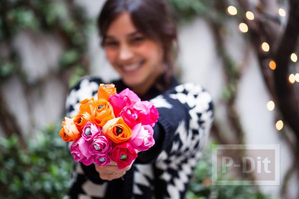 รูป 5 มงกุฎดอกไม้ ช่อดอกไม้ โมบาย สีสด