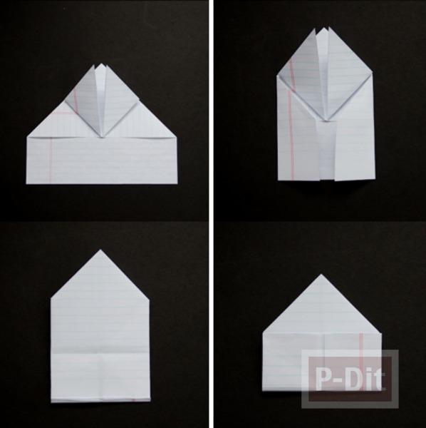 รูป 3 สอนพับหัวใจกระดาษ จากกระดาษสมุด