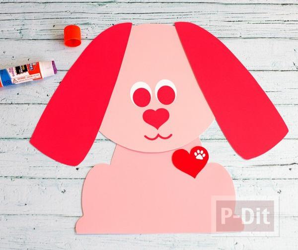รูป 4 ถุงกระดาษ ตกแต่งลายลูกหมา หูยาว