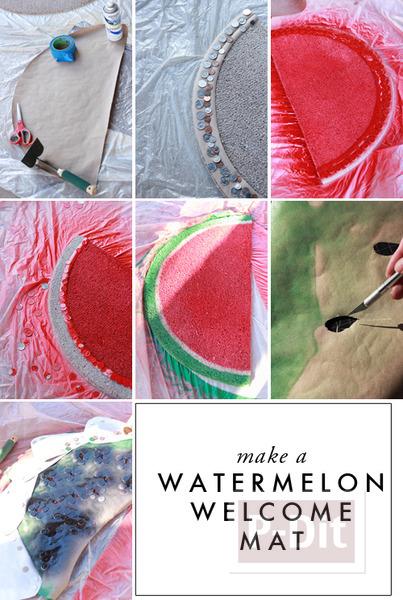 รูป 6 พรมเช็ดเท้า พ่นสี ลายผลไม้