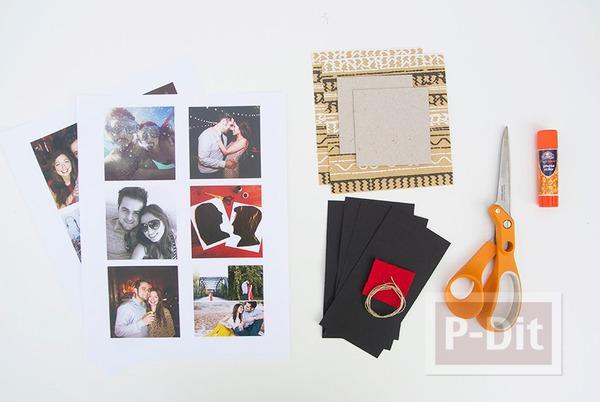 รูป 3 ทำอัลบั้มรูป สวยๆ จากกระดาษแข็ง
