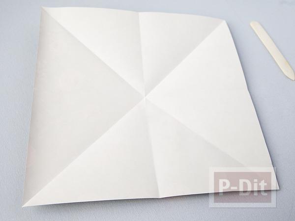 รูป 6 พับกล่องกระดาษ ใส่ของขวัญ ลายสวย