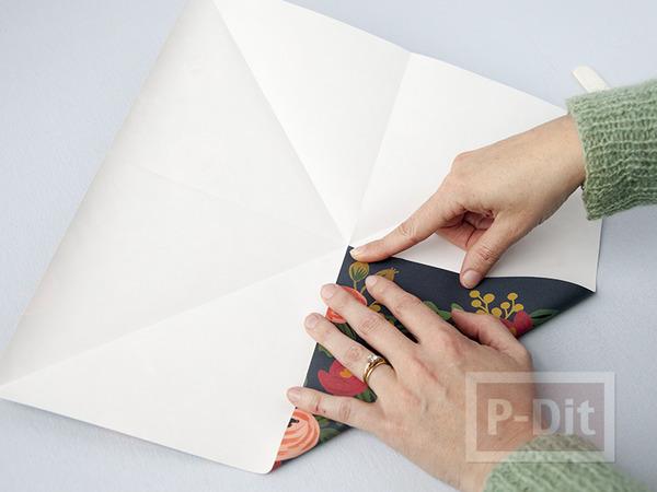 รูป 7 พับกล่องกระดาษ ใส่ของขวัญ ลายสวย