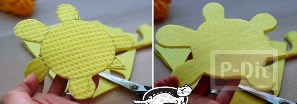 รูป 3 ไอเดียทำของเล่น เต่าลอยน้ำ