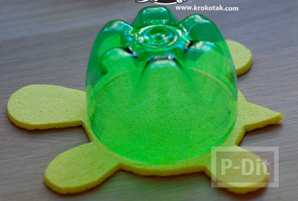 รูป 4 ไอเดียทำของเล่น เต่าลอยน้ำ
