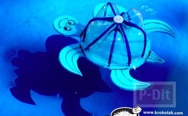 รูป 5 ไอเดียทำของเล่น เต่าลอยน้ำ