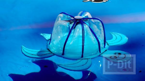รูป 6 ไอเดียทำของเล่น เต่าลอยน้ำ