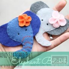 ตุ๊กตาช้าง ทำจากผ้า