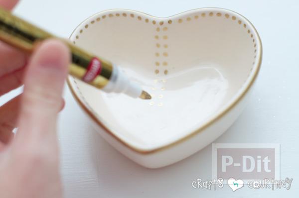 รูป 5 ตกแต่ง ชามใส่ของ รูปหัวใจ