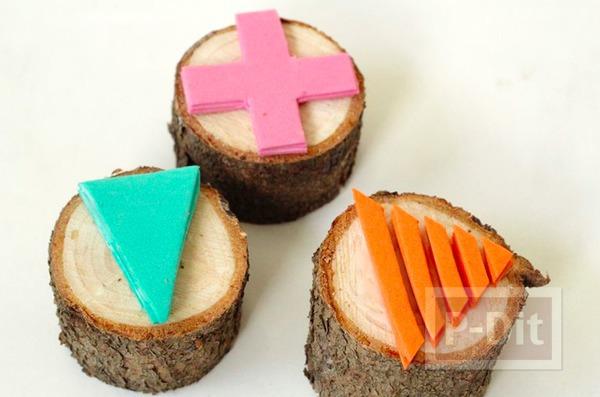สอนทำตัวปั้ม จากท่อนไม้และโฟมพลาสติก