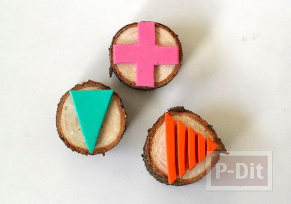 รูป 4 สอนทำตัวปั้ม จากท่อนไม้และโฟมพลาสติก