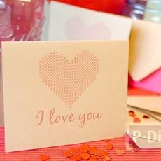 การ์ดวาเลนไทน์ ลายหัวใจ ส่งความรัก