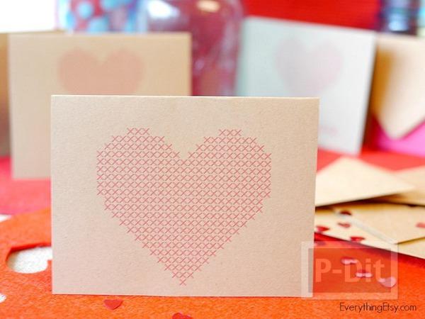 รูป 2 การ์ดวาเลนไทน์ ลายหัวใจ ส่งความรัก