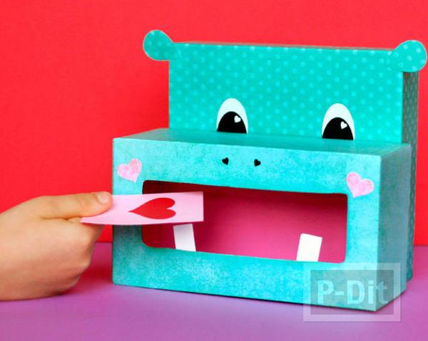 รูป 1 กล่องใส่ของน่ารัก ลายฮิปโป