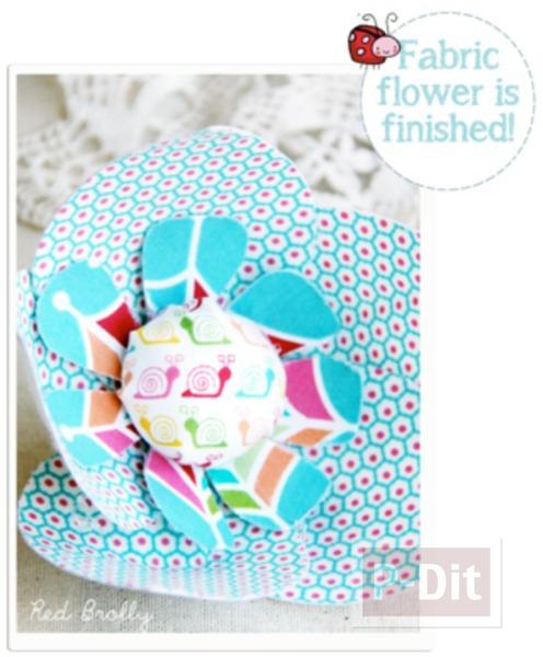 รูป 6 แพทเทิร์นดอกไม้ผ้า  สดใส ตกแต่งแจกัน