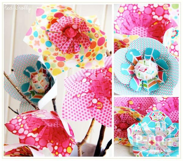 รูป 7 แพทเทิร์นดอกไม้ผ้า  สดใส ตกแต่งแจกัน