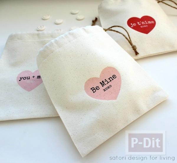 รูป 1 สอนทำถุงผ้า ลายหัวใจ ใส่ของ