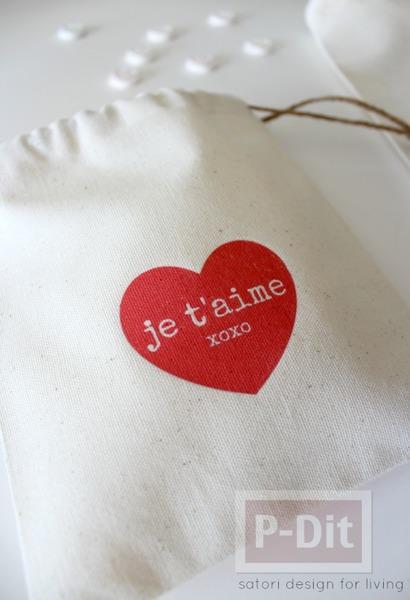 รูป 2 สอนทำถุงผ้า ลายหัวใจ ใส่ของ