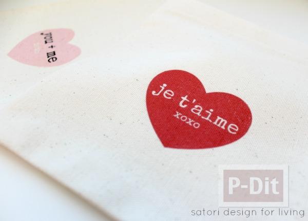 รูป 3 สอนทำถุงผ้า ลายหัวใจ ใส่ของ