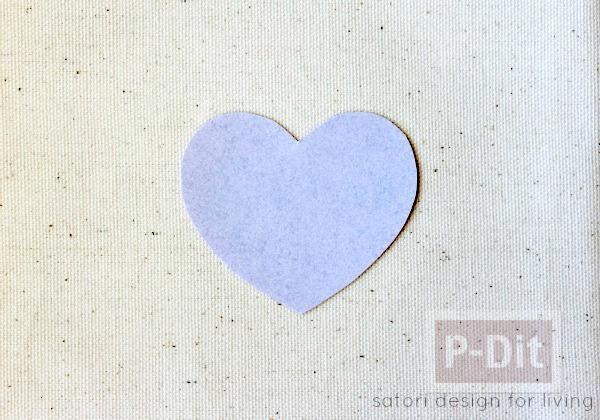 รูป 4 สอนทำถุงผ้า ลายหัวใจ ใส่ของ