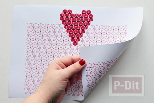 รูป 3 ป็อบอัพการ์ด หัวใจ