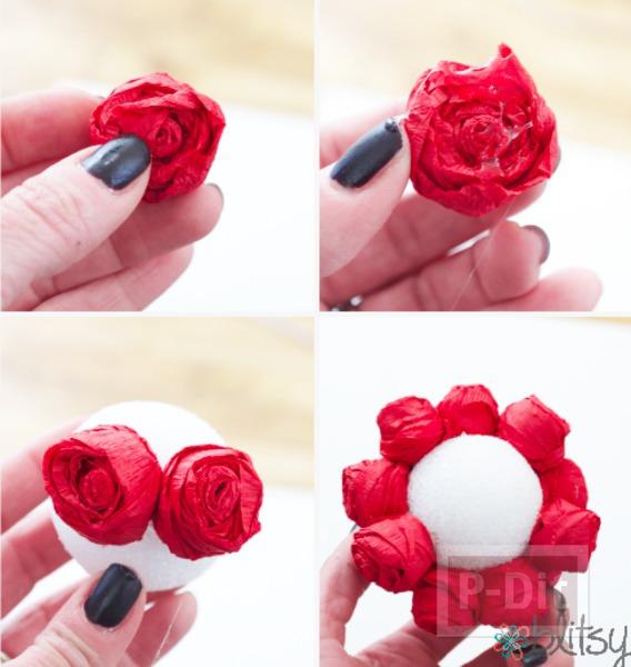 รูป 6 ช่อดอกกุหลาบสีแดงสด มอบความรัก