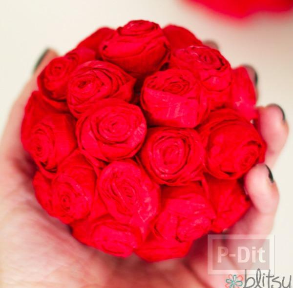 รูป 7 ช่อดอกกุหลาบสีแดงสด มอบความรัก