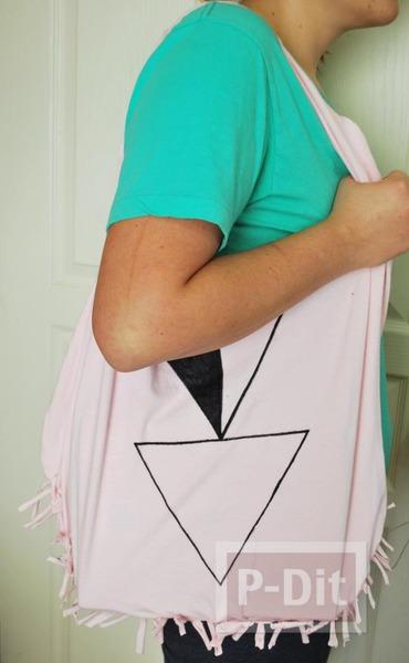 รูป 3 ทำกระเป๋าสะพาย จากเสื้อยืด