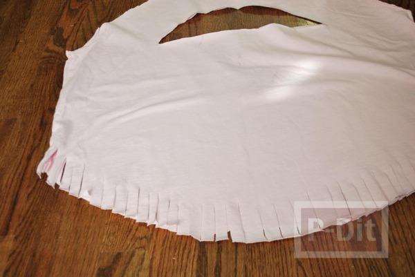 รูป 6 ทำกระเป๋าสะพาย จากเสื้อยืด