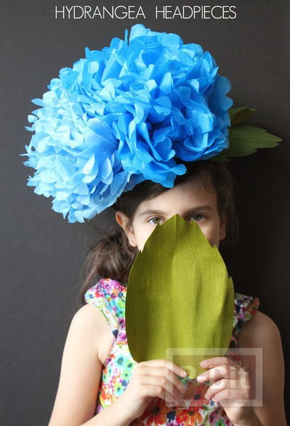 รูป 2 หมวกดอกไม้ ดอกใหญ่ ทำเองจากกระดาษ