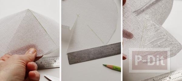 รูป 4 หมวกดอกไม้ ดอกใหญ่ ทำเองจากกระดาษ