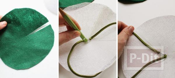 รูป 5 หมวกดอกไม้ ดอกใหญ่ ทำเองจากกระดาษ