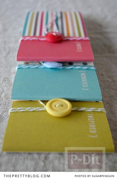 รูป 2 สมุดโน๊ตเล่มเล็ก ทำเอง สีสวย