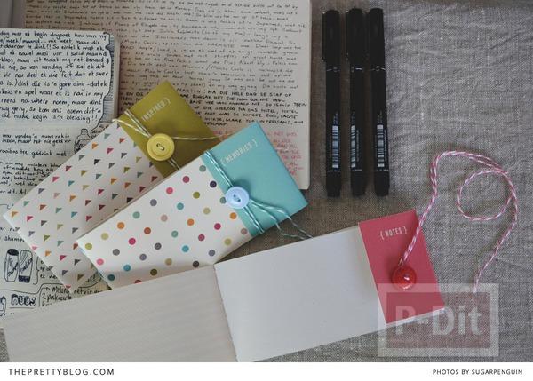 รูป 3 สมุดโน๊ตเล่มเล็ก ทำเอง สีสวย