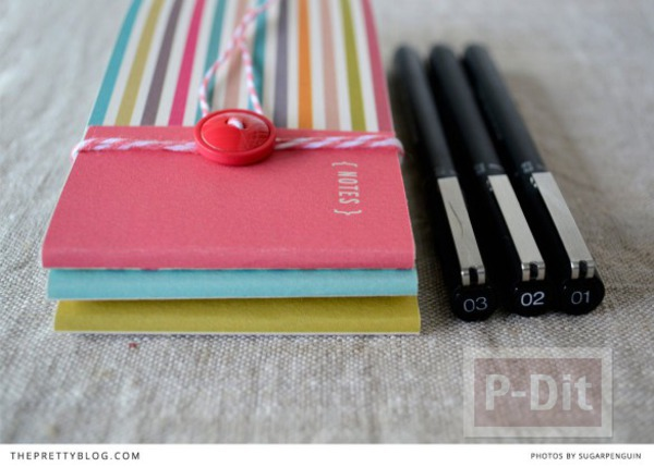 รูป 5 สมุดโน๊ตเล่มเล็ก ทำเอง สีสวย