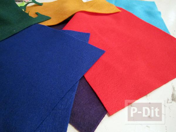รูป 3 สอนทำที่รองเทียนไข ที่รองจาน จากผ้า