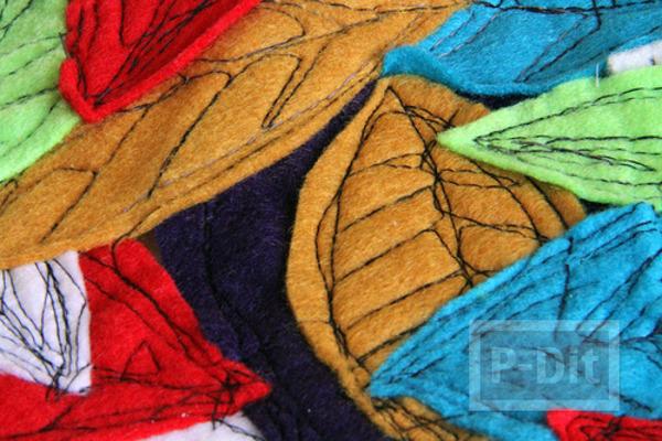 รูป 7 สอนทำที่รองเทียนไข ที่รองจาน จากผ้า