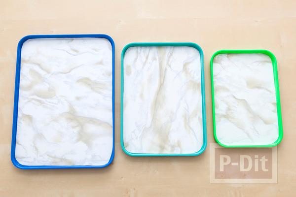 รูป 7 ถาดสีขาว ตกแต่งสีสัน น่าใช้