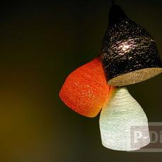 โคมไฟเพดาน ทำจากเชือก