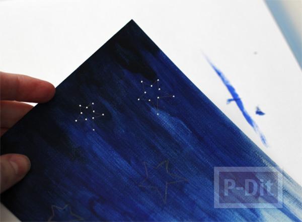 รูป 4 การ์ดสีสวย ระบายสีสดใส รูปดาว