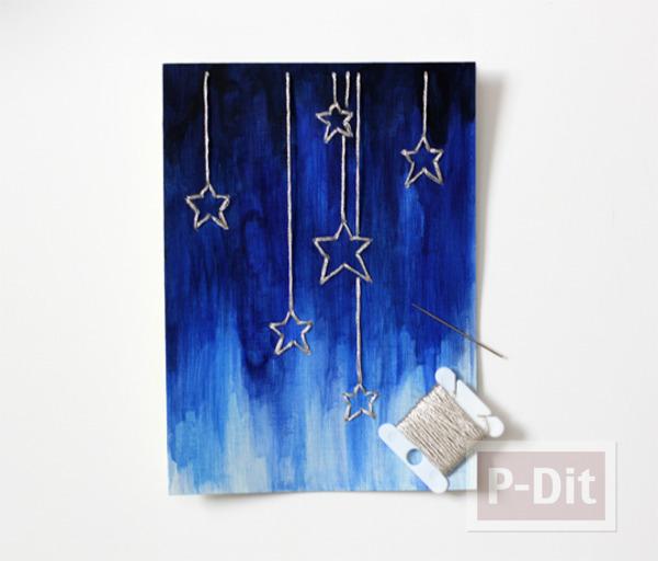 รูป 5 การ์ดสีสวย ระบายสีสดใส รูปดาว