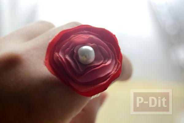 รูป 2 แหวนดอกไม้ ริบบิ้น สีสวย