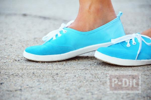 เปลี่ยนสีรองเท้าผ้าใบ ด้วยสเปรย์