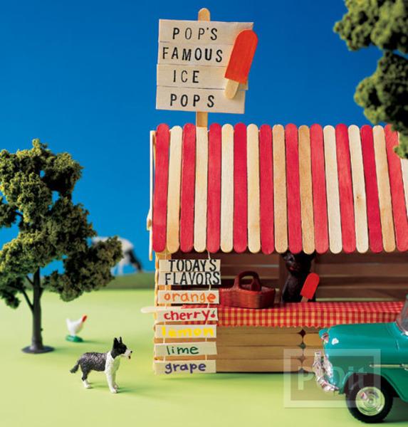 รูป 1 ร้านขายของ ประดิษฐ์จากไม้ไอติม