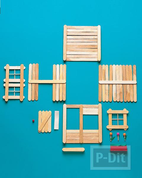 รูป 3 ร้านขายของ ประดิษฐ์จากไม้ไอติม
